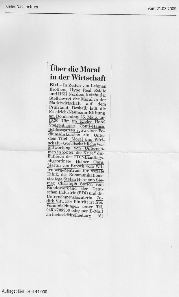 21.03.2009 - Kieler Nachrichten