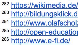 Fußnoten in Google Docs