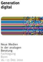 """Titelbild der Einladung zur Tagung """"Generation Digital"""" (Schriftzug plus buntes Irgendwas)"""