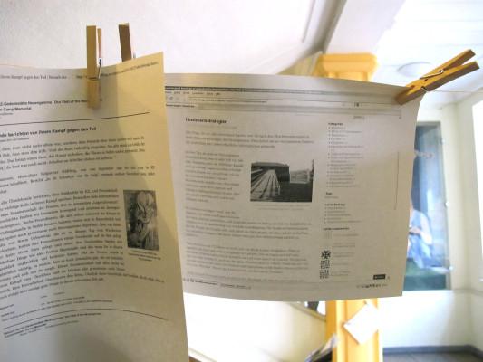 Artikel des Blogs in Papierform (Bild steht nicht unter einer freien Lizenz).