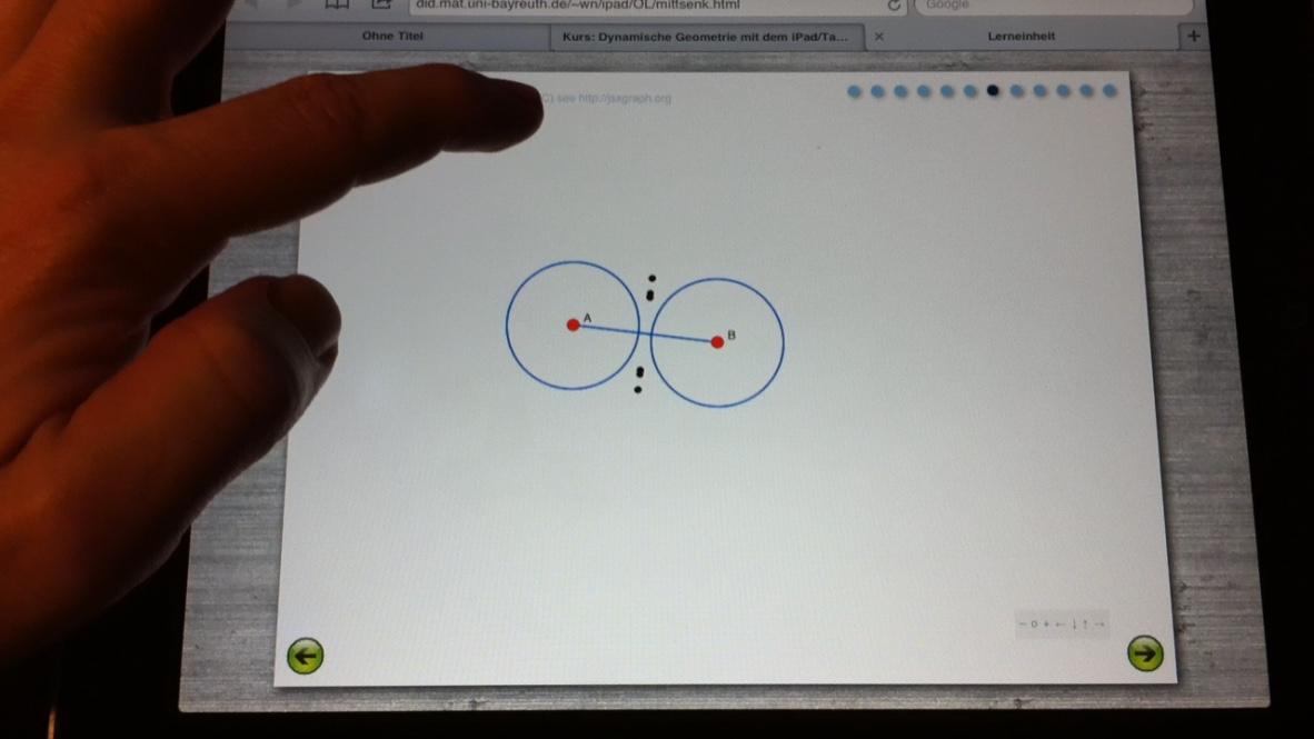 Übung auf dem iPad (Foto: Markus Bölling; Bild steht nicht unter freier Lizenz)