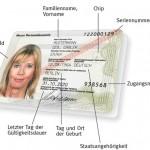 Musterabbildung des neuen Personalausweis (Vorderseite)
