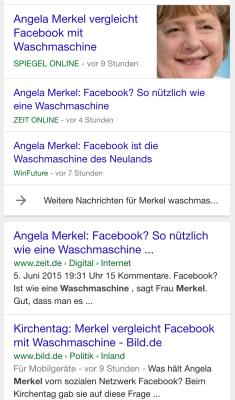 Merkel vergleicht Facebook mit einer Waschmaschine Merkel (Kirchentag 2015)