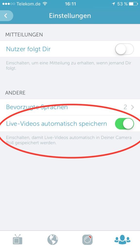 Periscope-Videos speichern