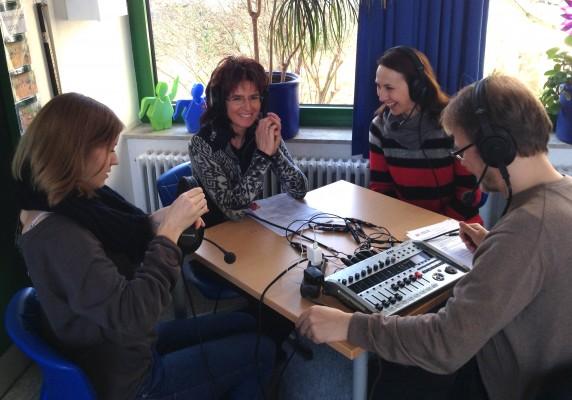 Podcast an der Tausschule Backnang am 30.01.2014 - Foto by Schulleiter Nossek