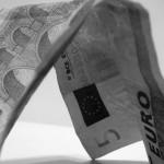 ein Geldschein, nämlich 5 Euro