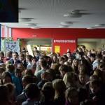 Demonstration in einer Schule in Husum gegen das Medienverbot (2012)