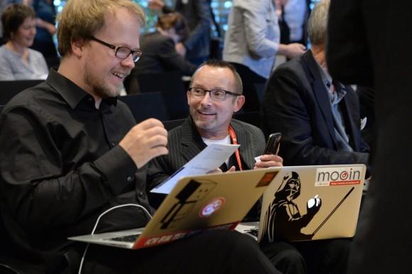 Jöran Muuß-Merholz und Andreas Wittke von oncampus (Foto: David Ausserhofer / Stifterverband)