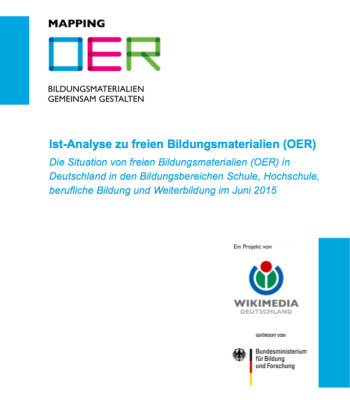 mappingOER (2015) Ist-Analyse OER Cover