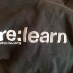 5 Jahre vorher: Das re:learn-T-Shirt 2009 (Foto CC by 4.0 by Jöran Muuß-Merholz)