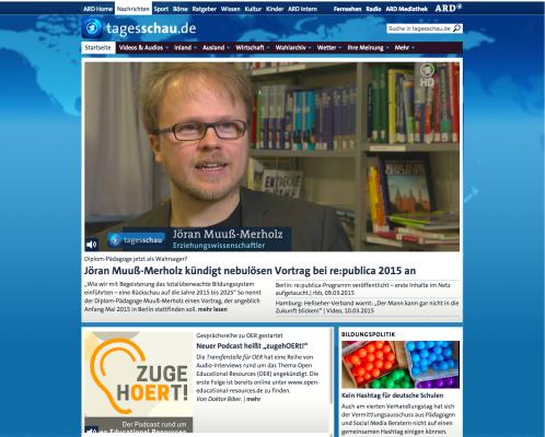 nicht auf tagesschau.de: medialer Wirbel um Vortrag (2015)