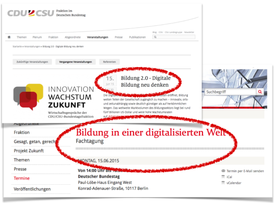 Ankündigungen von SPD und CDU/CSU