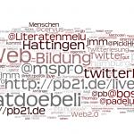 tagcloud zur Tagung #pb21
