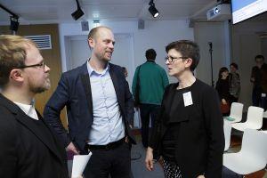 Otto Vollmers im Gespräch mit Saskia Esken und Jöran Muuß-Merholz; Thomas Imo/ photothek.net
