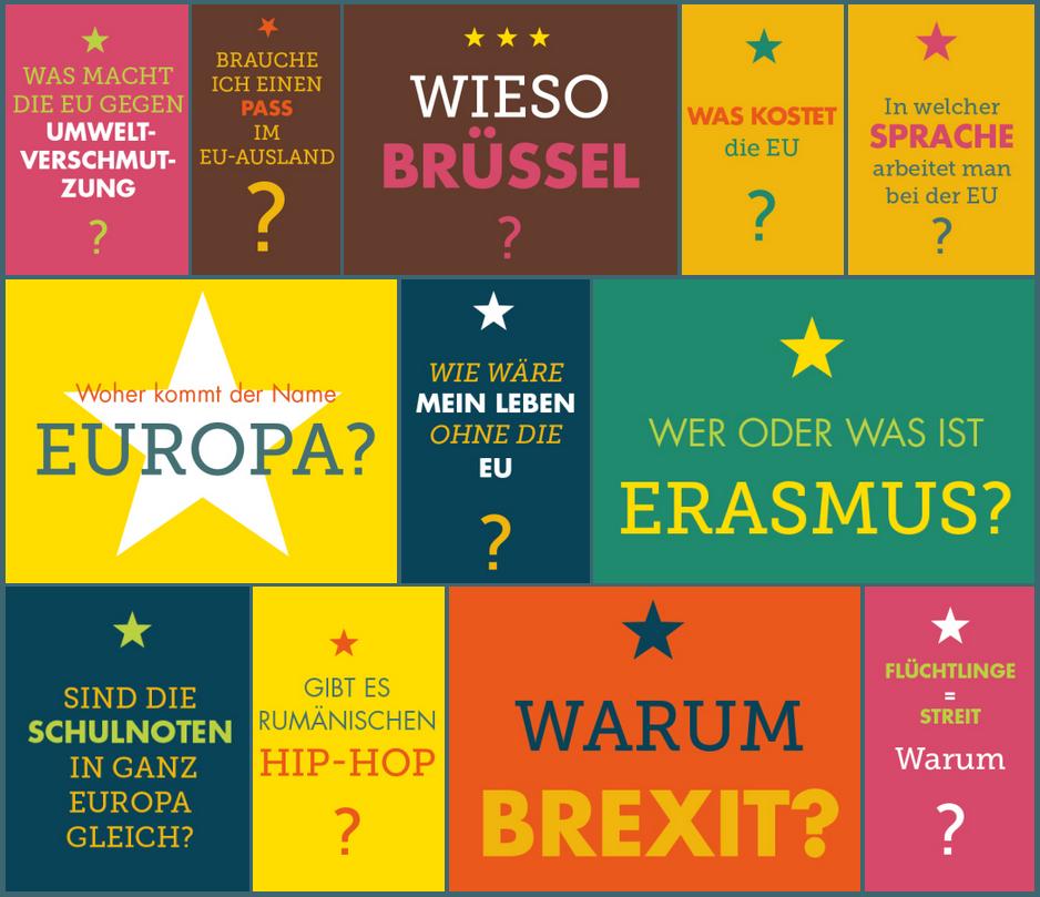 100 Fragen an Europa (eine erste Auswahl)