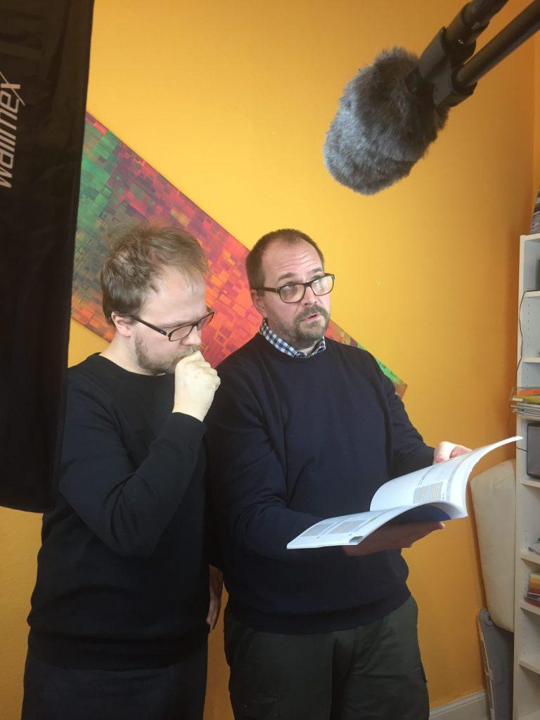 Jan Neumann und Jöran Muuß-Merholz als Senior-YouTuber