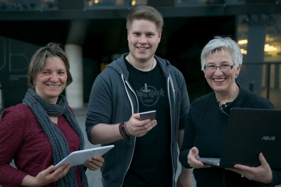 v.l.n.r.: Irene Bär, Moritz Bross, Irene Schumacher (nicht unter freier Lizenz)