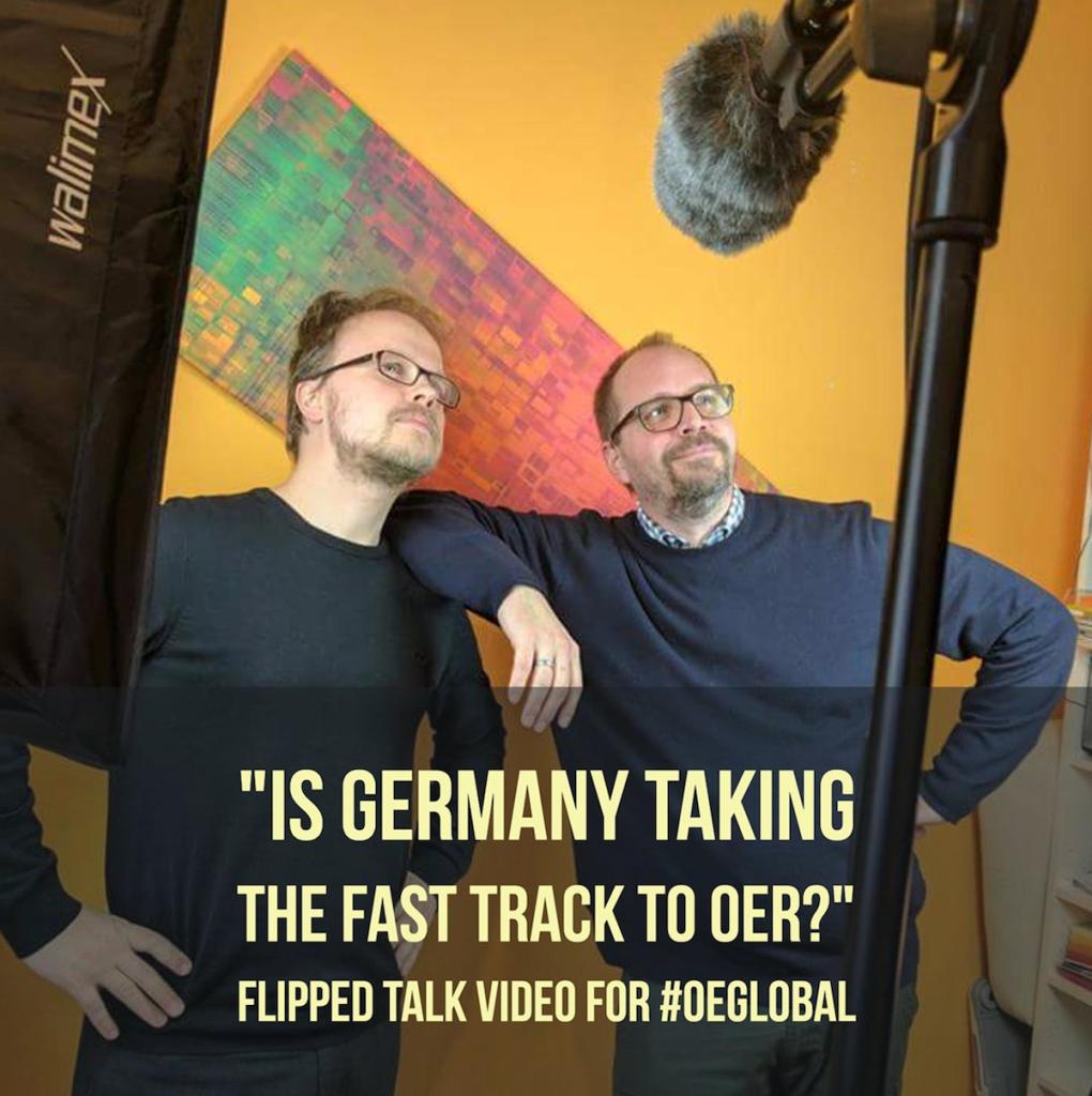 Jöran Muuß-Merholz und Jan Neumann beim Videodreh