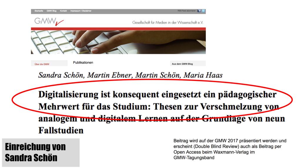 """Sandra Schön, Martin Ebner, Martin Schön und Maria Haas """"Digitalisierung ist konsequent eingesetzt ein pädagogischer Mehrwert für das Studium"""""""